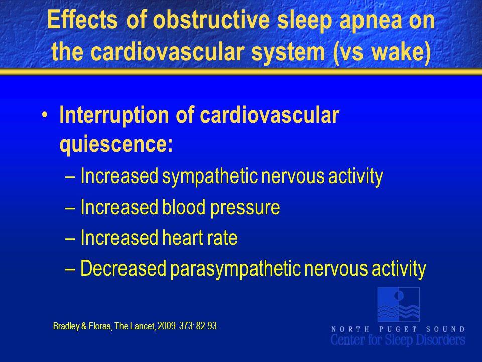 Effects of obstructive sleep apnea on the cardiovascular system (vs wake)