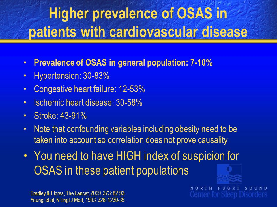 Higher prevalence of OSAS in patients with cardiovascular disease