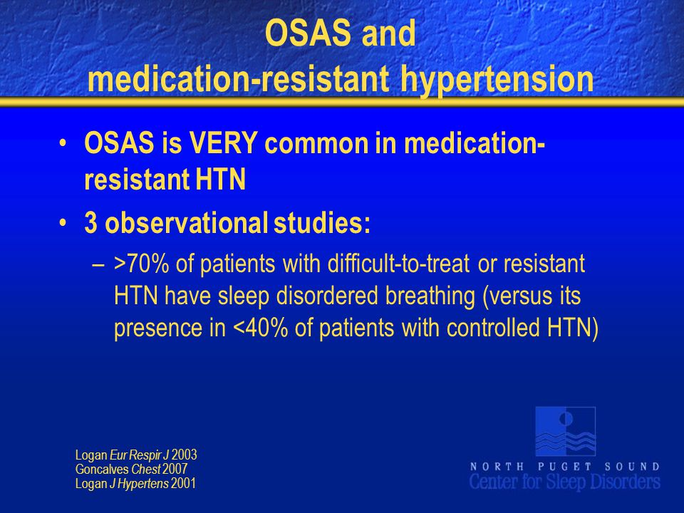 OSAS and medication-resistant hypertension