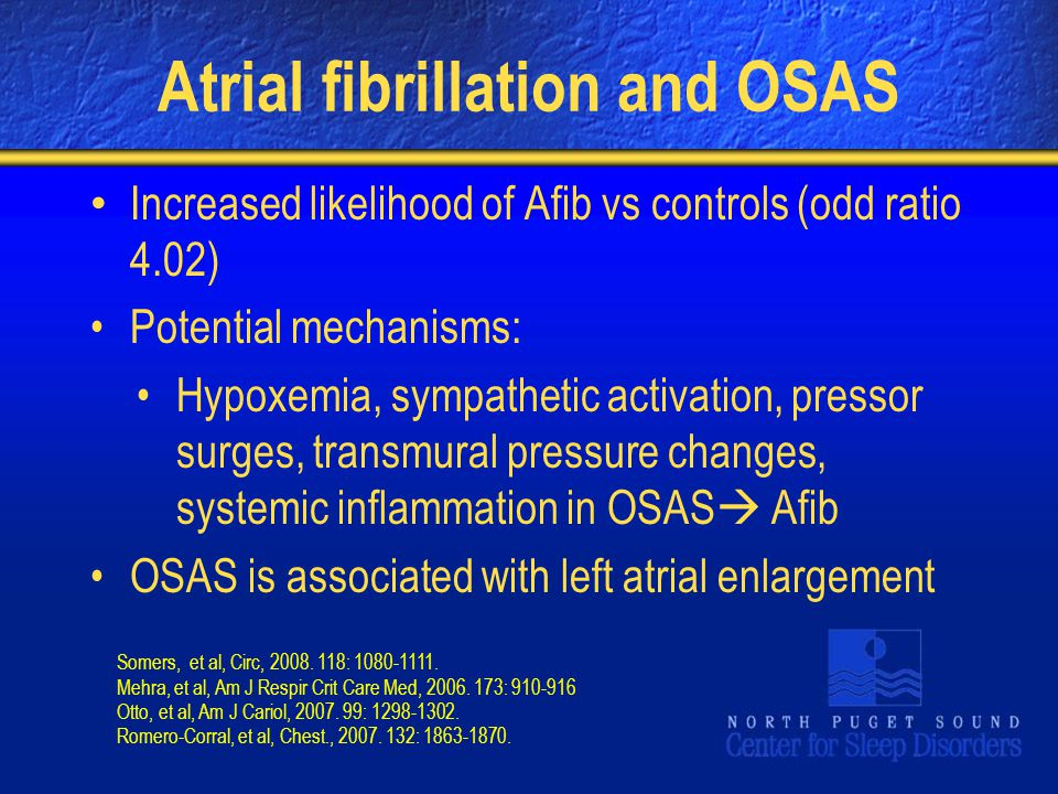 Atrial fibrillation and OSAS