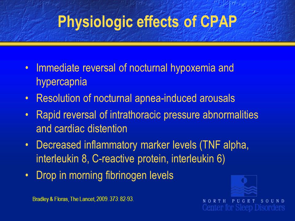 Physiologic effects of CPAP