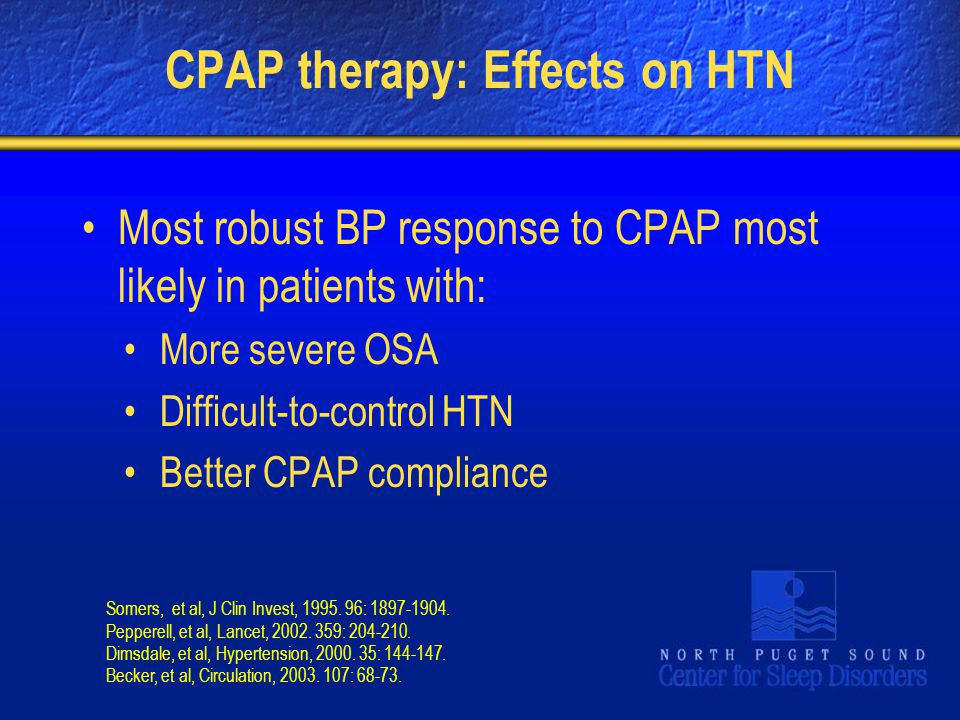 CPAP therapy: Effects on HTN