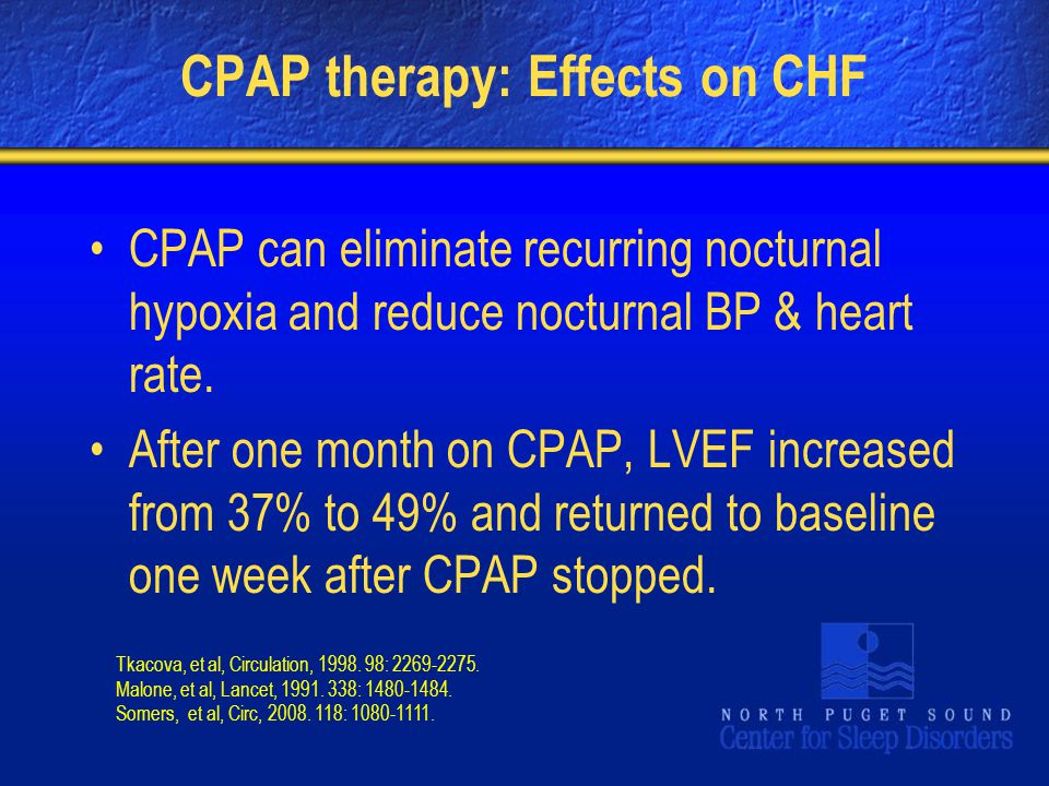 CPAP therapy: Effects on CHF