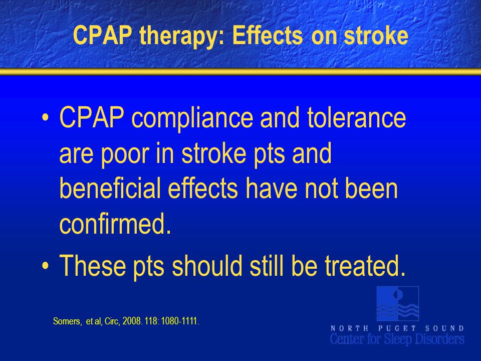 CPAP therapy: Effects on stroke