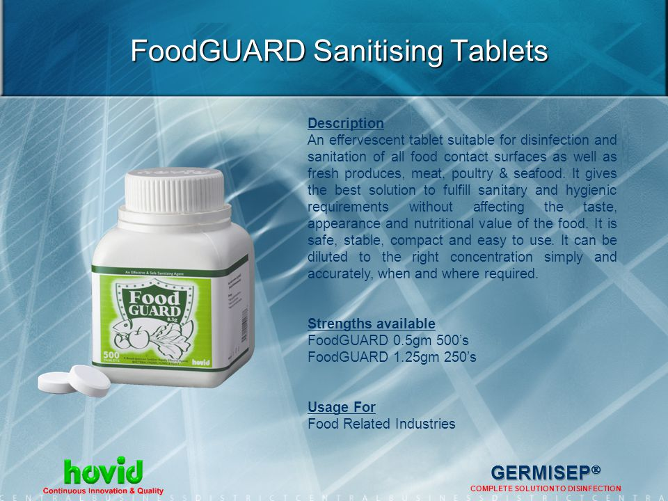 FoodGUARD Sanitising Tablets