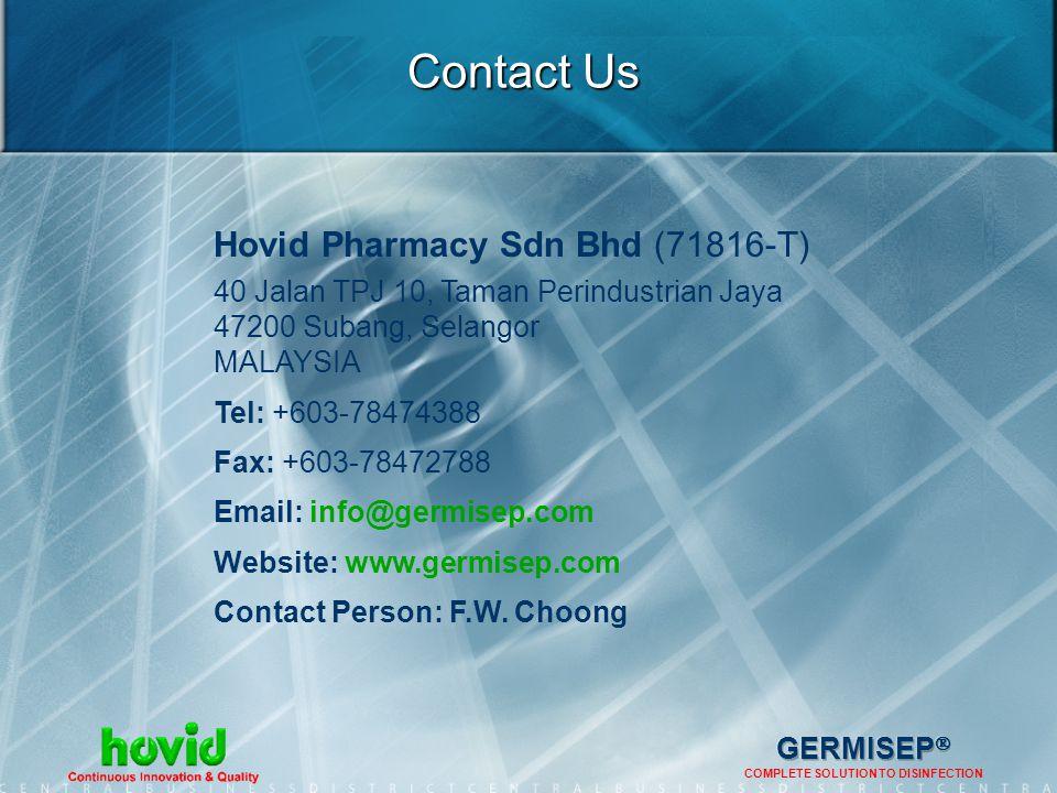 Contact Us Hovid Pharmacy Sdn Bhd (71816-T)