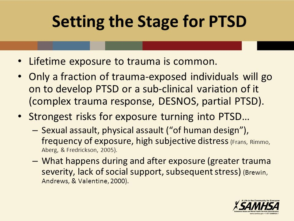 Setting the Stage for PTSD