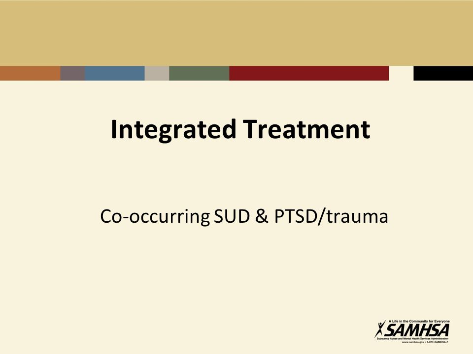 Co-occurring SUD & PTSD/trauma