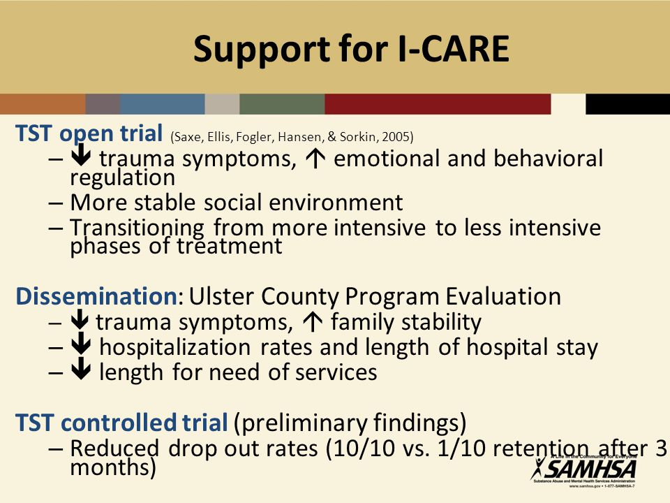 Support for I-CARE Dissemination: Ulster County Program Evaluation