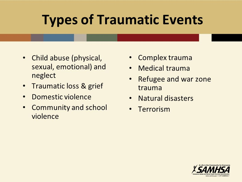Types of Traumatic Events