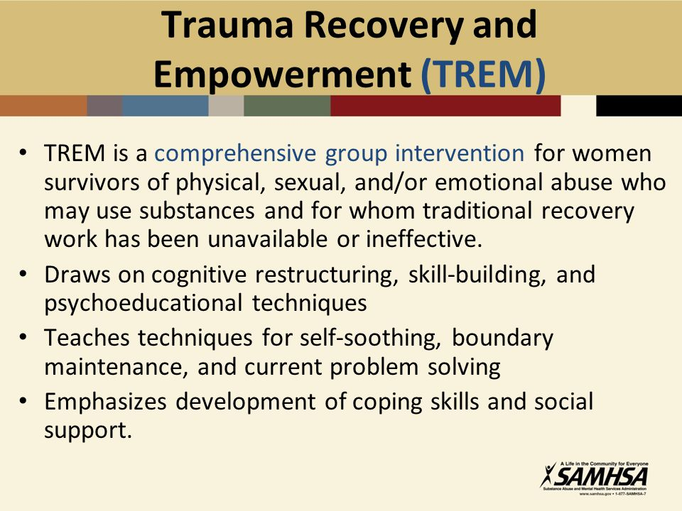 Trauma Recovery and Empowerment (TREM)