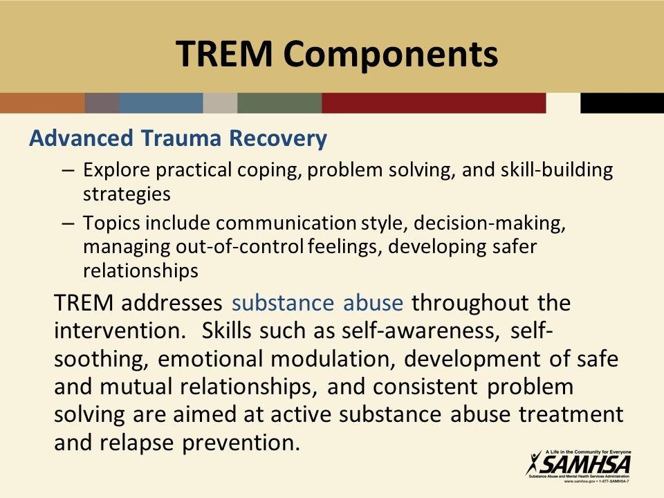 TREM Components Advanced Trauma Recovery