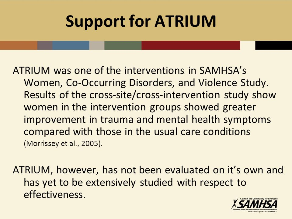 Support for ATRIUM