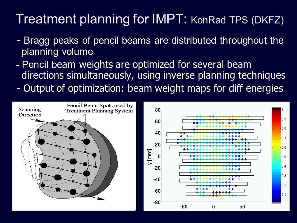 Treatment planning for IMPT: KonRad TPS (DKFZ)