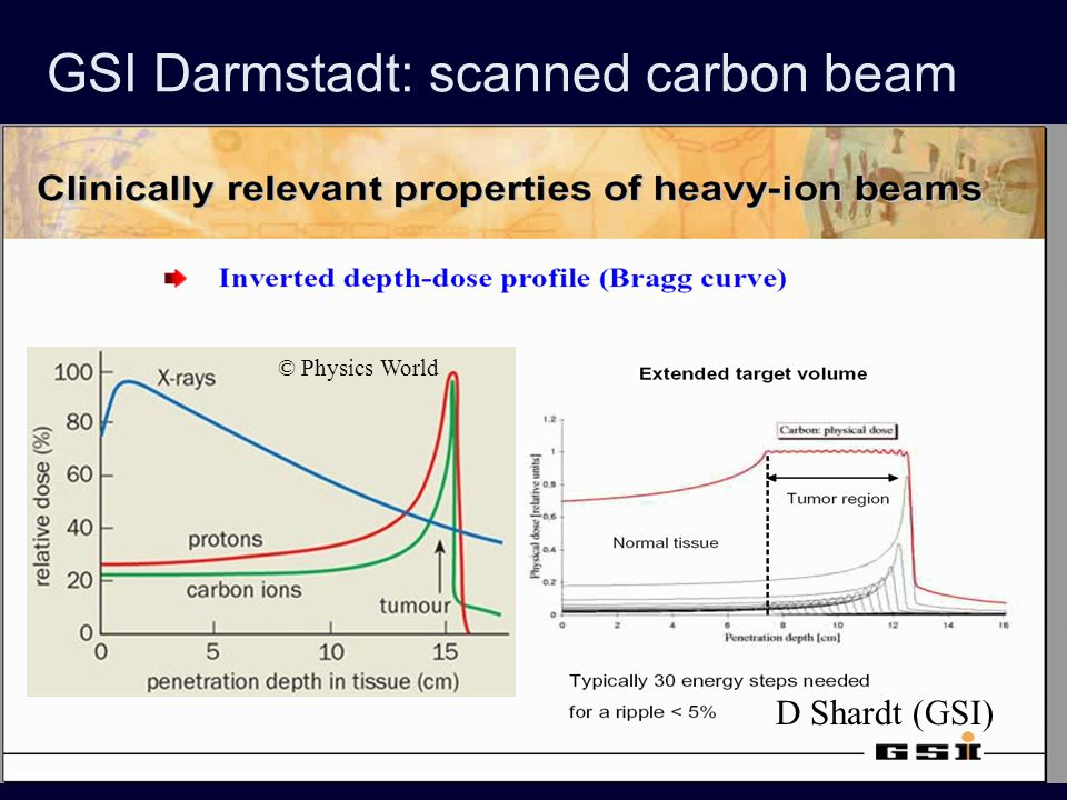 GSI Darmstadt: scanned carbon beam