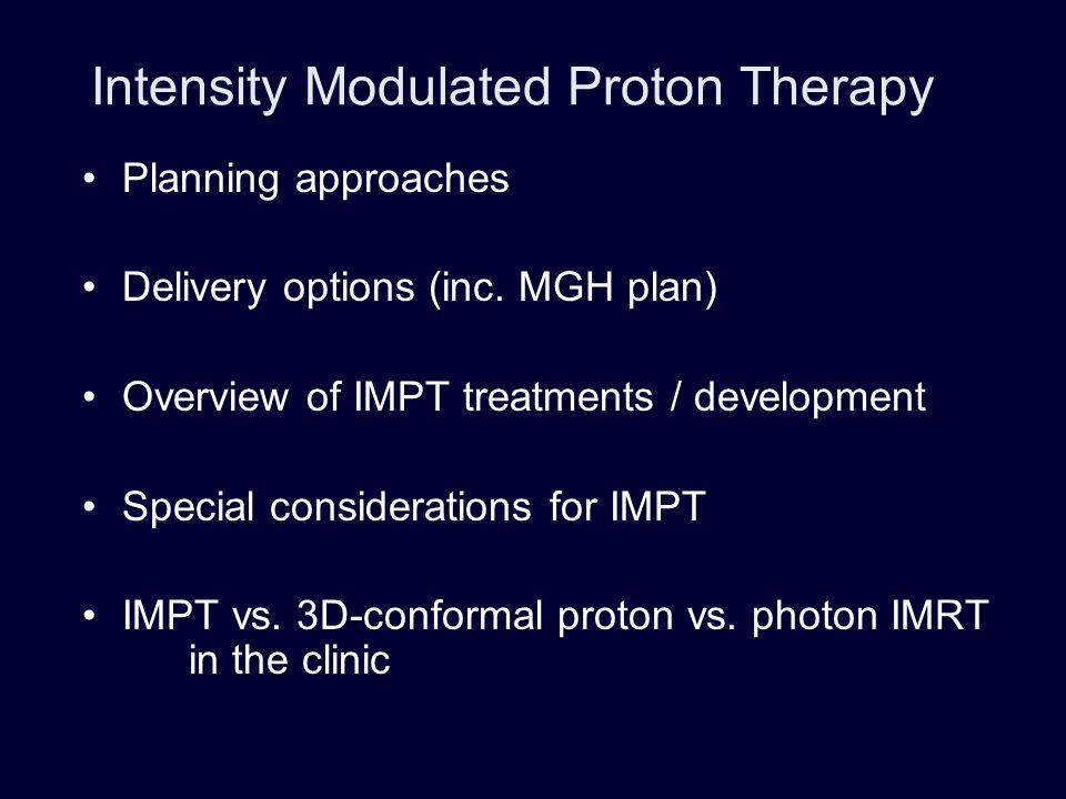 Intensity Modulated Proton Therapy