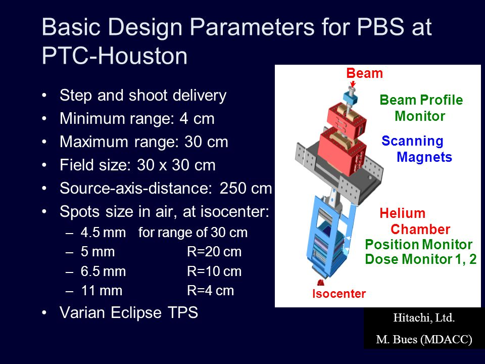 Basic Design Parameters for PBS at PTC-Houston