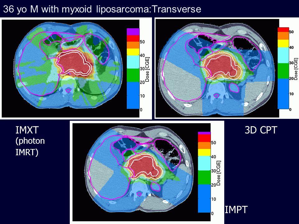 36 yo M with myxoid liposarcoma:Transverse