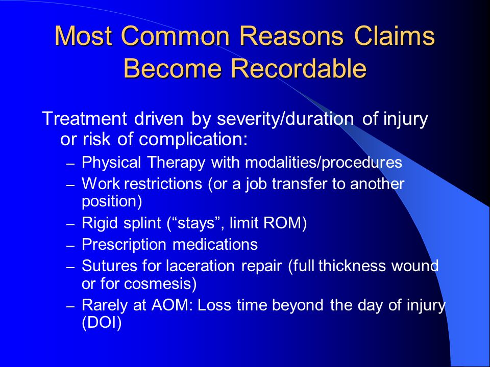Most Common Reasons Claims Become Recordable