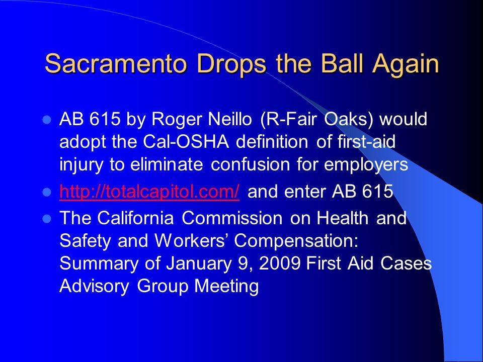 Sacramento Drops the Ball Again