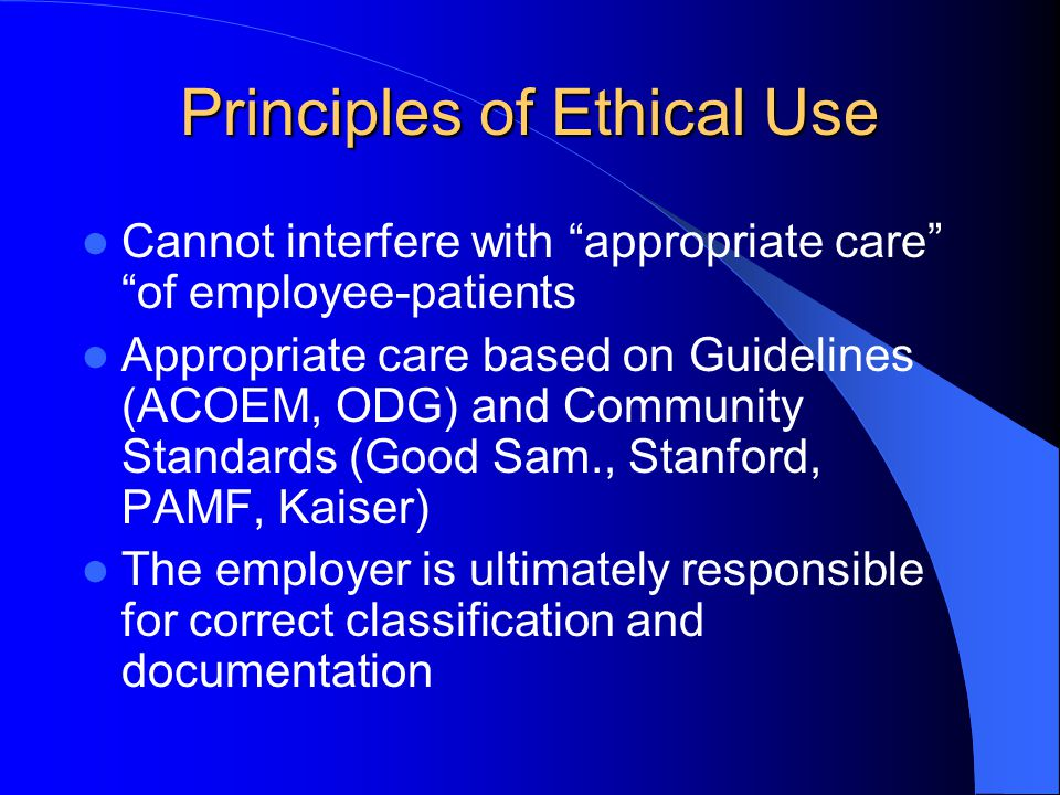 Principles of Ethical Use