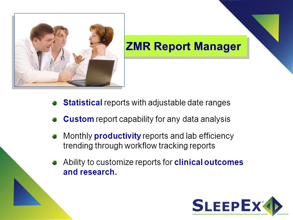 ZMR Report Manager Statistical reports with adjustable date ranges
