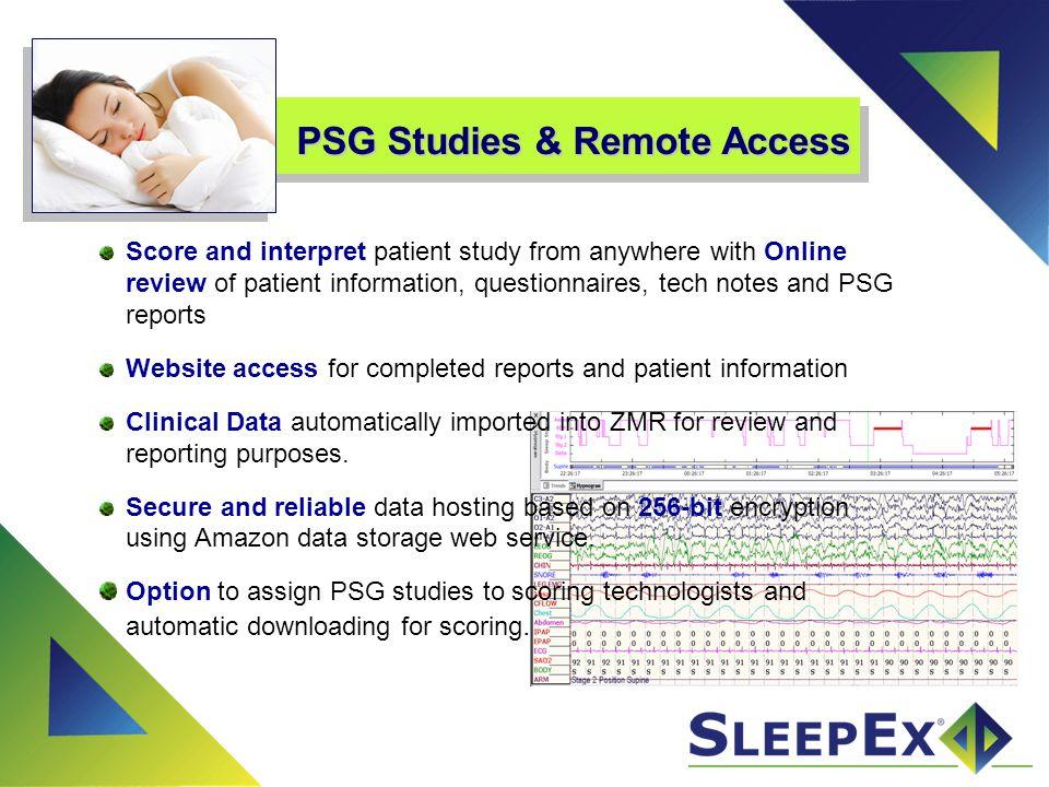 PSG Studies & Remote Access