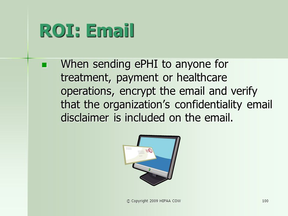ROI: Email