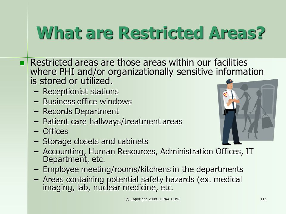 What are Restricted Areas