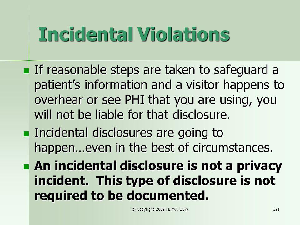 Incidental Violations