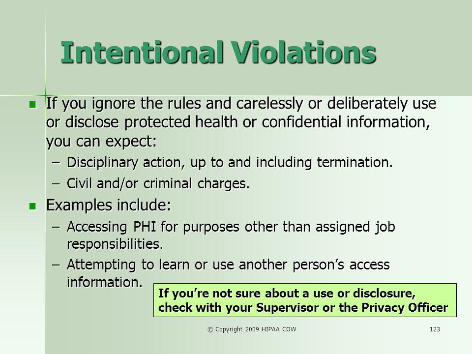 Intentional Violations