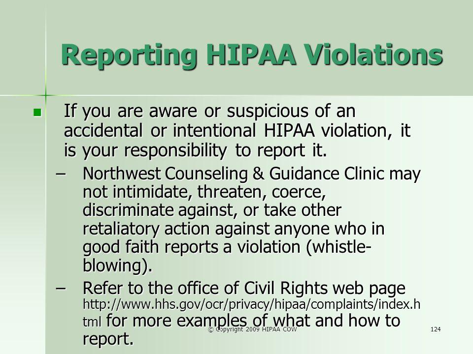 Reporting HIPAA Violations