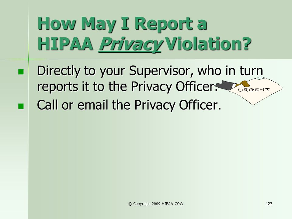 How May I Report a HIPAA Privacy Violation
