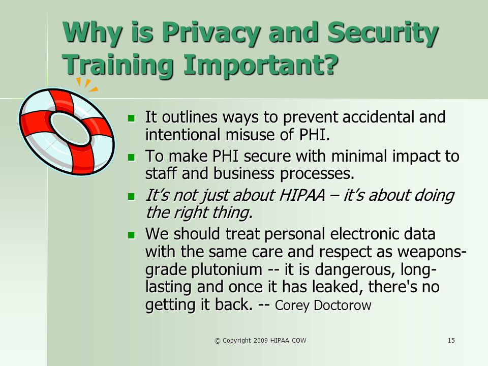 Why is Privacy and Security Training Important