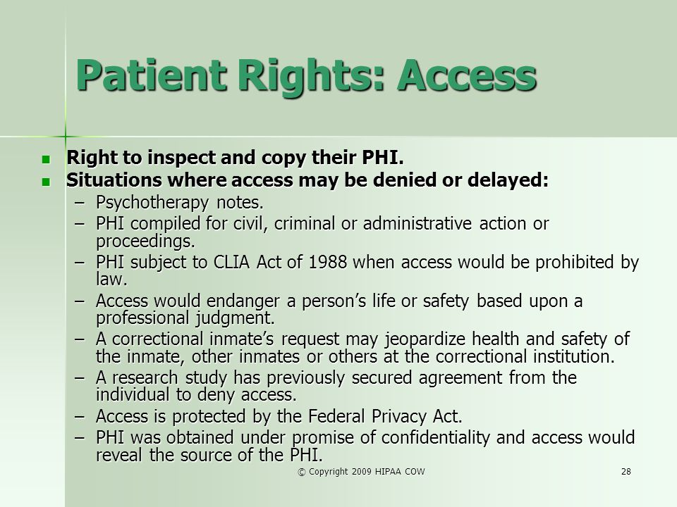 Patient Rights: Access
