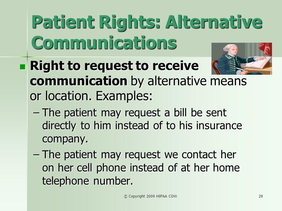 Patient Rights: Alternative Communications