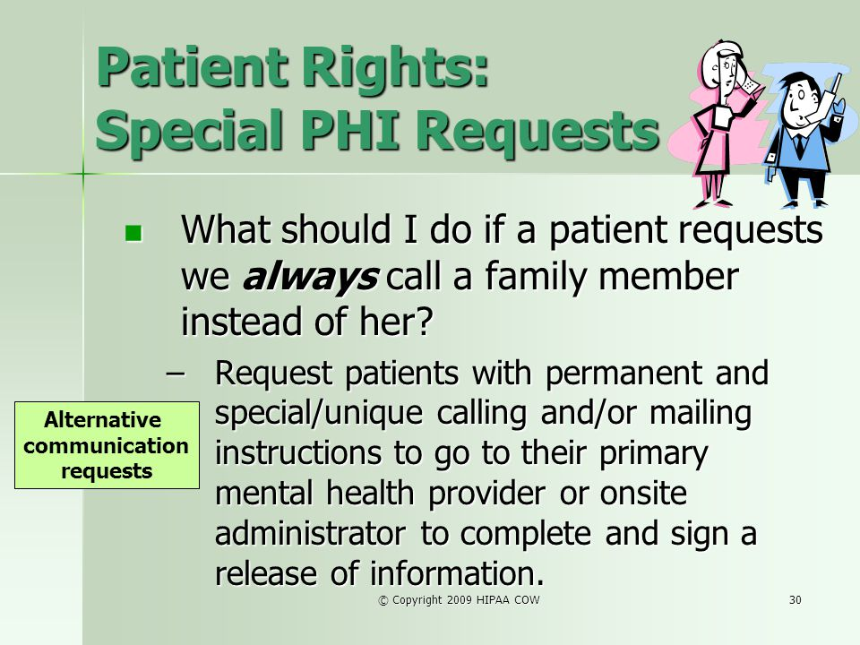 Patient Rights: Special PHI Requests