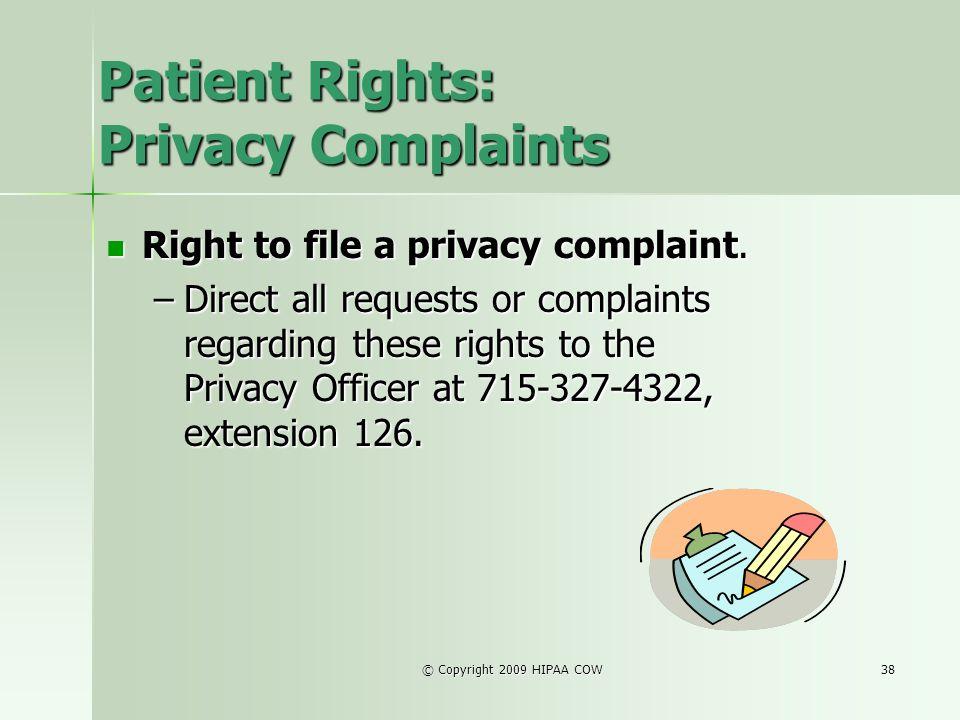 Patient Rights: Privacy Complaints