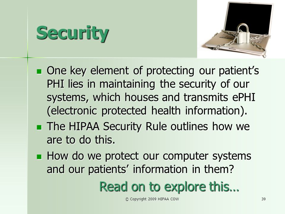 Security Read on to explore this…