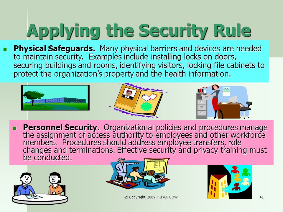 Applying the Security Rule