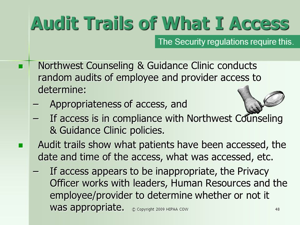 Audit Trails of What I Access