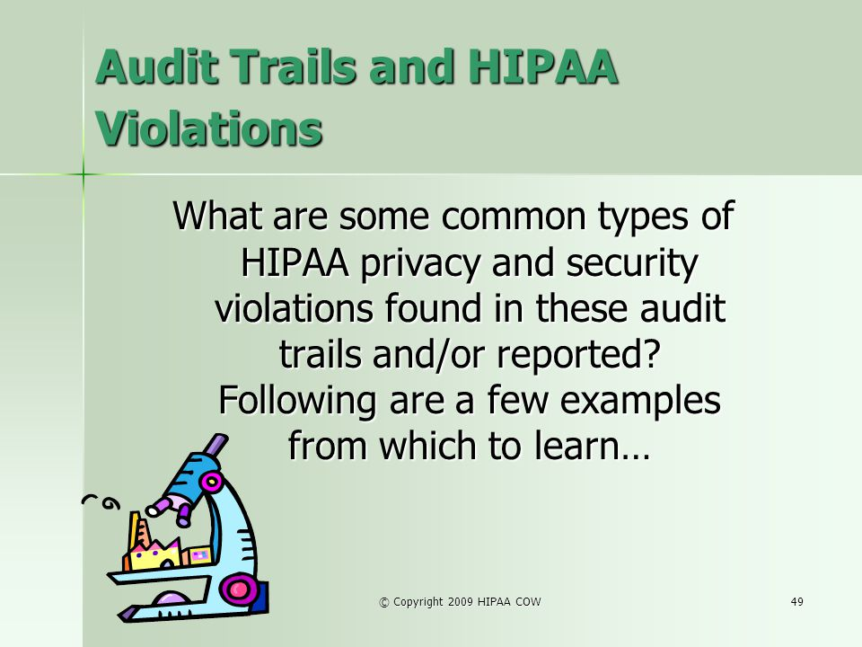 Audit Trails and HIPAA Violations