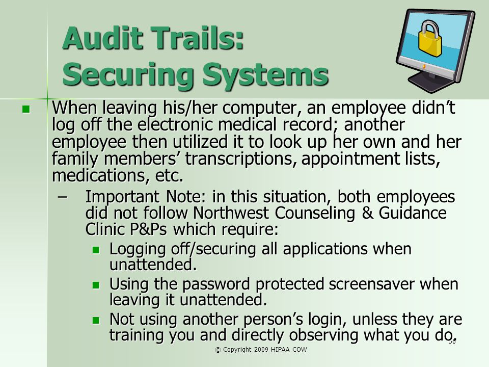 Audit Trails: Securing Systems