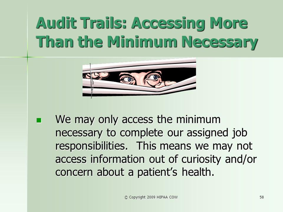 Audit Trails: Accessing More Than the Minimum Necessary