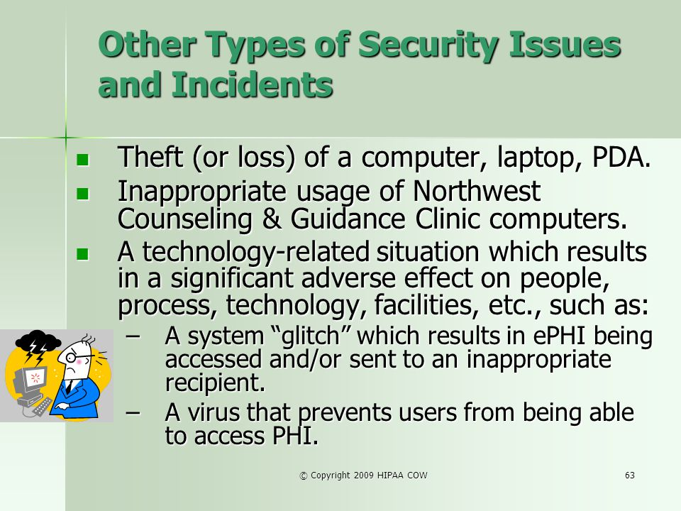 Other Types of Security Issues and Incidents