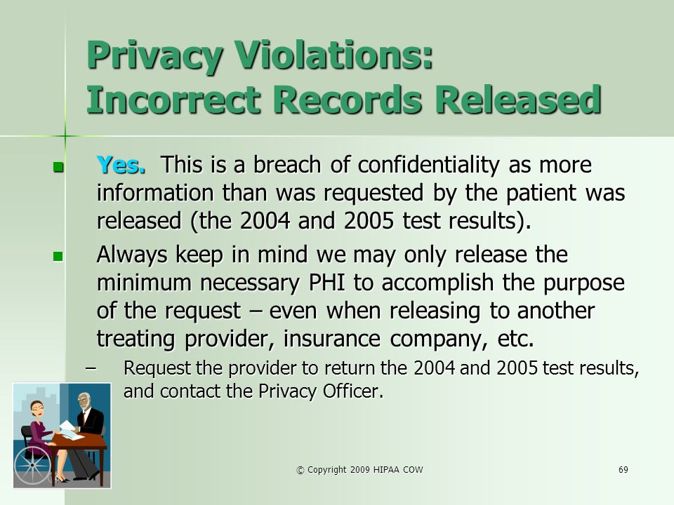 Privacy Violations: Incorrect Records Released