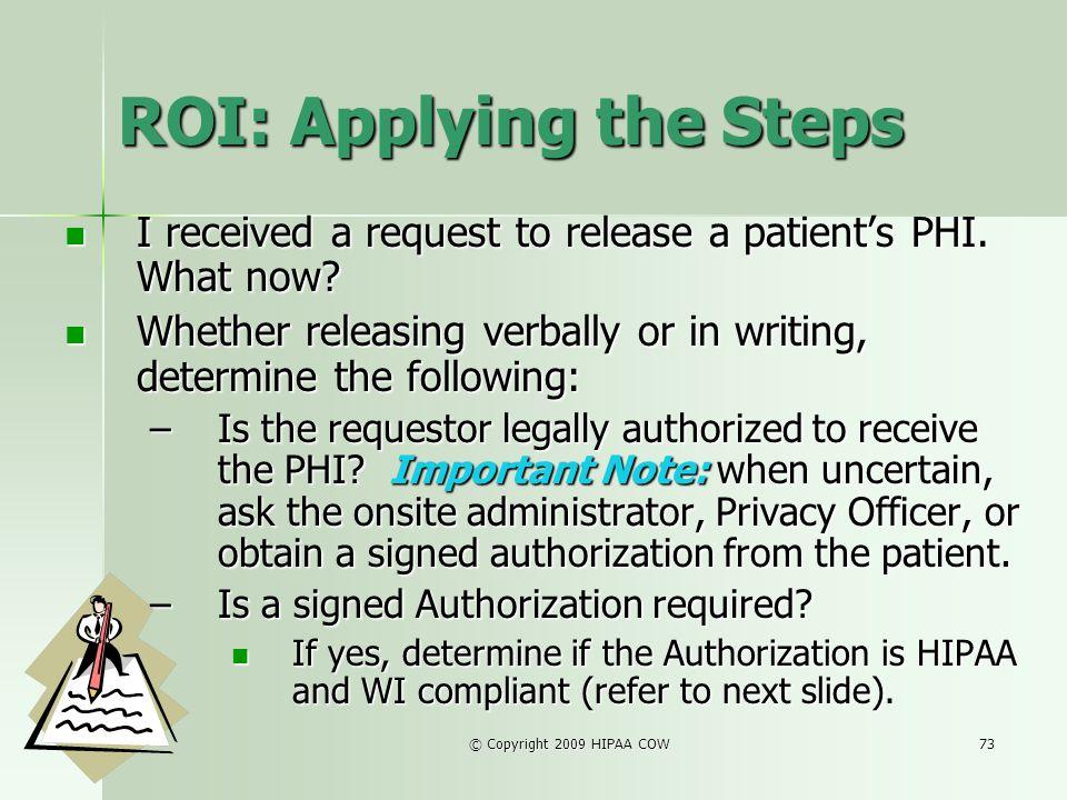 ROI: Applying the Steps