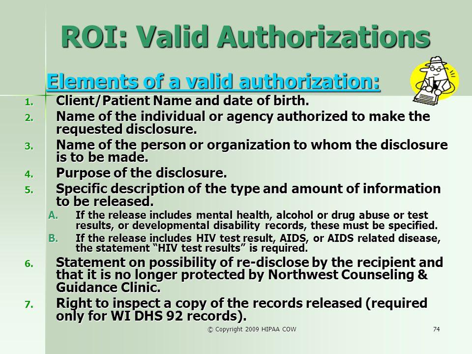 ROI: Valid Authorizations