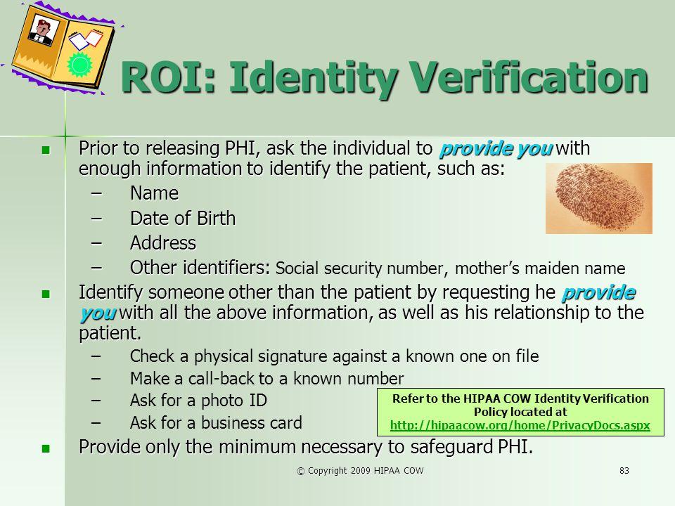ROI: Identity Verification