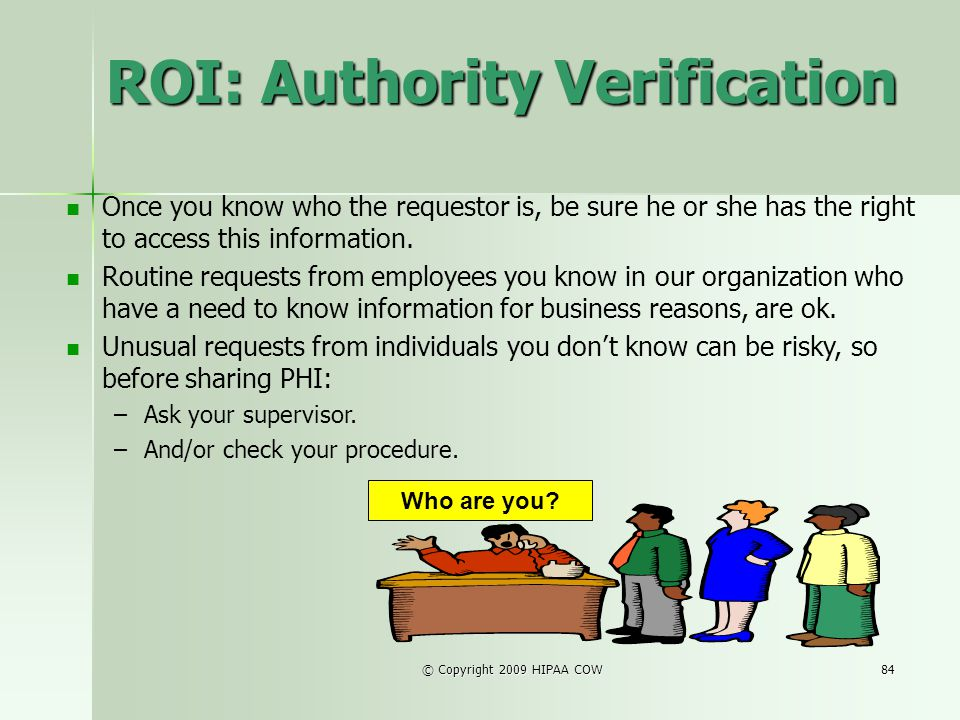 ROI: Authority Verification